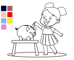 Online Coloring Page Daisy Saves