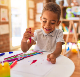 child coloring free coloring page with crayons